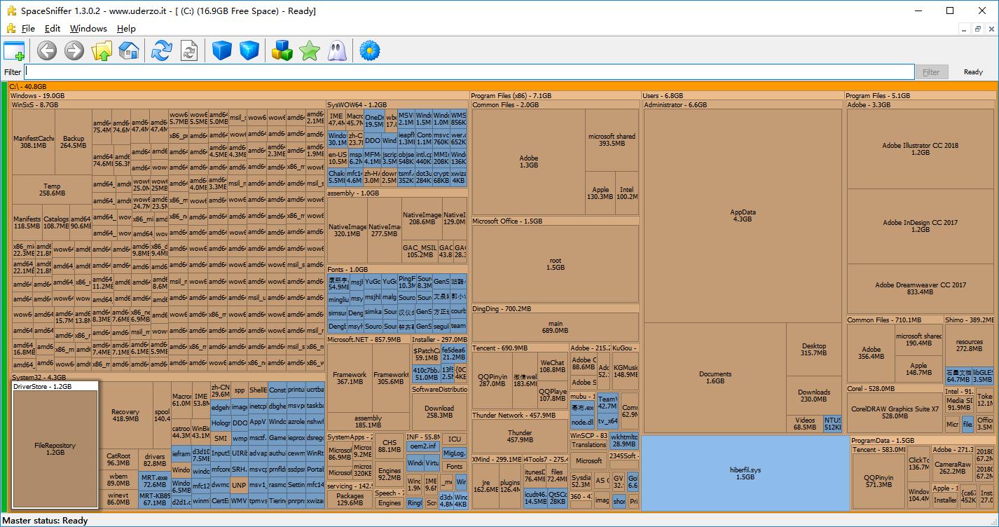小众软件之SpaceSniffer——找到占用硬盘的元凶
