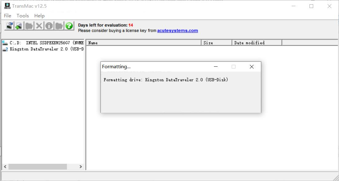 TransMac转换优盘格式